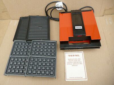 £20.99 • Buy Vintage Tefal Toasted Sandwich Waffle Maker + Grill Plates 74150, Parts Only