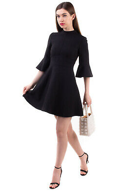 £9.50 • Buy RRP€2570 VALENTINO Silk & Thin Wool Fit & Flare Dress Size 40 / S Made In Italy
