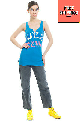 £0.99 • Buy FRANKLIN & MARSHALL Vest Top Size L Cracked Effect Coated Logo Made In Italy