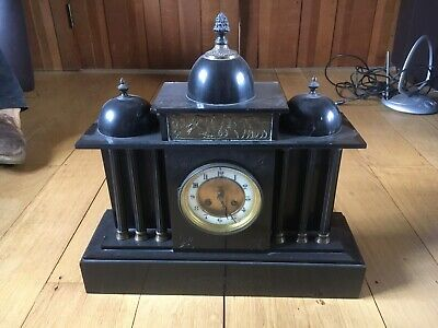 £80 • Buy Antique Heavy Marble / Slate Clock Needs Attention