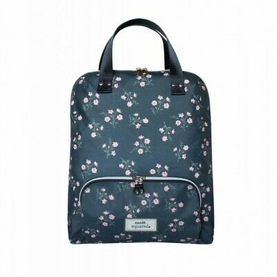 £39.99 • Buy Earth Squared Navy And Pink Flower Oil Cloth Backpack - BNWT
