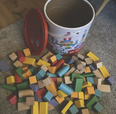 £3.50 • Buy Grow And Play Blockmania- 98 Colourful Wooden Blocks For Kids And Shape Sorter