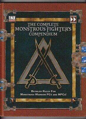 AU20 • Buy D20 System The Complete Monstrous Fighters Compendium Dungeons And Dragons R.P.G