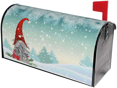 $22.99 • Buy Mount Hour Merry Christmas Gnome Standing Snowfall Mailbox Covers Magnetic Winte