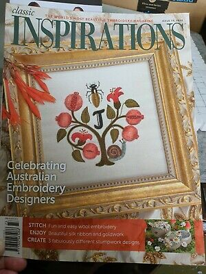 £6.50 • Buy Inspirations Embroidery Magazine Issue 73, 2012. Published In Australia.