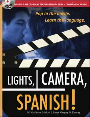 £15.84 • Buy Lights, Camera, Spanish [Book + DVD]: Learn Conversational Spanish By Watching A