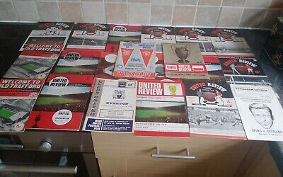 £4.99 • Buy 20x Mainly 1960s  Manchester United Football Programmes (17 ×60s ,2x70s,1 X 80s)