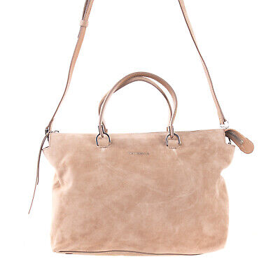 £19.99 • Buy RRP€240 COCCINELLE Suede Leather Tote Bag Detachable Strap Zipped Slouchy Design