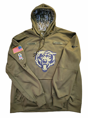 $55 • Buy Nike Authentic CHICAGO BEARS Mens 2018 NFL SALUTE TO SERVICE Hoodie Olive XXL
