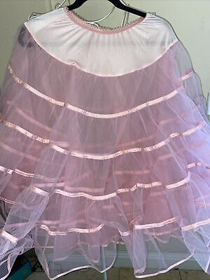 $19.99 • Buy Vintage Pink  Malco Modes Of San Fransisco 2 Layer Square Dance Fluffy Skirt Sm