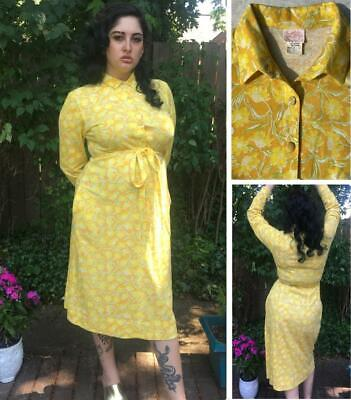 $26 • Buy FABULOUS VINTAGE 1960s LILLY PULITZER  THE LILLY   DRESS / SHIRTDRESS - M/L