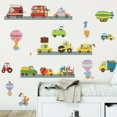 £9.55 • Buy Transport Cars Fire Engine Bus Traffic Wall Stickers Kids Art Decal Paper Decor