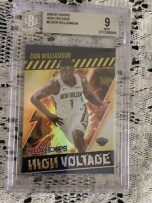 $69.99 • Buy 2020-21 Hoops Zion Williamson High Voltage Holo Foil BGS 9 #8 Pelicans