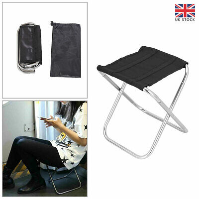 £11.54 • Buy Portable Aluminum Folding Chair Stool Seat Fishing Hiking Camping Outdoor Travel