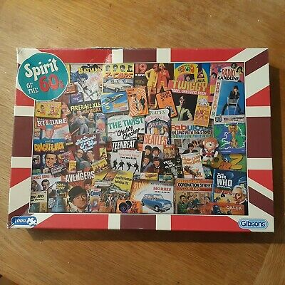 £5 • Buy Spirit Of The 60s: 1000 Piece Jigsaw Guaranteed Complete