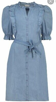 £0.99 • Buy F&F Denim Frill Dress Size 8 New Without Tag