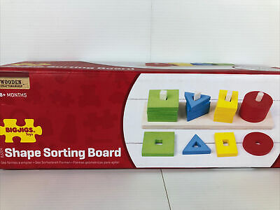£12.99 • Buy Bigjigs Toys Wooden Educational Shape Sorter Traditional Wooden Learning Toy