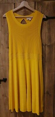 £28 • Buy Michael Kors Yellow Stretchy Ribbed Dress, Knee-length - Size XL (12/14)