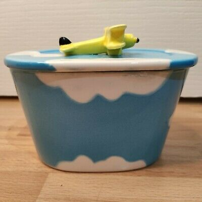 £9.99 • Buy Utterly Butterly Aeroplane Butter Dish Vintage Kitchenware Sky Clouds Collectabl