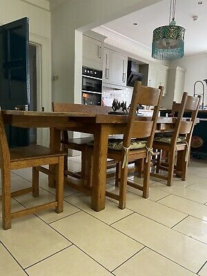 £600 • Buy Solid Oak Dinning Table And 4 Chairs Plus Bench