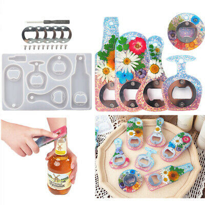 £8.29 • Buy Bottle Beer Opener Mold Silicone Resin Casting Jewelry Making Mould Tool Kit DIY