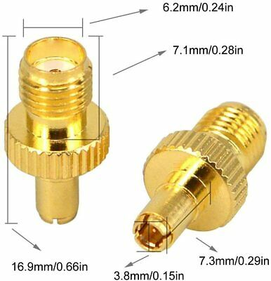 £3.45 • Buy 2x TS9 Male Plug To SMA Female RF Connector Adapter Gold Pack Of 2 UK Seller