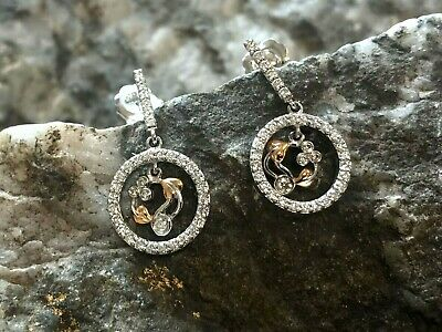 £950 • Buy Welsh Clogau 18ct White & Rose Gold Tree Of Life Diamond Earrings £1250 OFF!