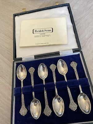 £99.99 • Buy Boxed Lindisfarne Solid Silver Set Of 6 Spoons Sheffield 1985