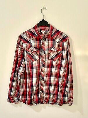 $0.01 • Buy Men's True Religion Long Sleeve Button Down Flannel Shirt Size 3XL [Pre-Owned]