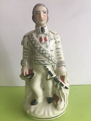 £10 • Buy Staffordshire Style Pottery Soldier Man Figure,Military Man Ornament
