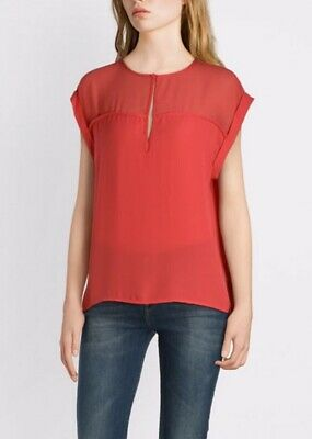 £15 • Buy Pepe Jeans London Womens Carey Blouse Top In Crispy Red New Size L