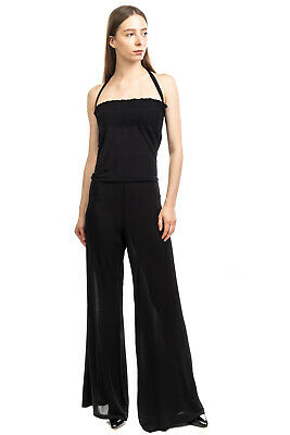 AU4.15 • Buy RRP €190 CRISTINAEFFE Jumpsuit Size IT 46 / L Rhinestoned Necklace Made In Italy