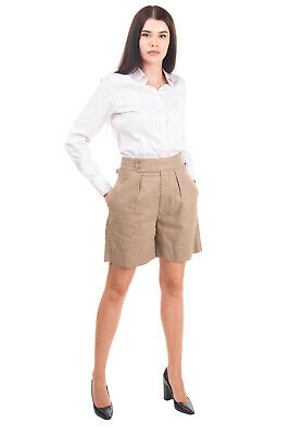£0.99 • Buy RRP€145 CLOSED Safari Shorts Size 25 Linen Blend Pleated Front High Rise Zip Fly
