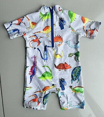 £5.99 • Buy NEXT Baby Boys Dino Print Swimsuit All In One Swimwear 9-12 Months