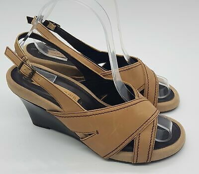 £14.50 • Buy Next 'Sole Reviver' Leather Wedge Sandals. Size 6. Good Condition!