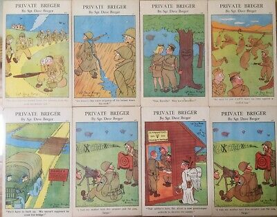 $11.50 • Buy Ww2 Comic Army Humor Private Breger By Sgt Dave Berger Vtg Postcard Lot Of 10