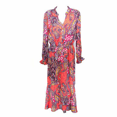 $ CDN43.56 • Buy Anthropologie Fig And Flower Dress Long Women's Small Long Sleeve Floral Lined