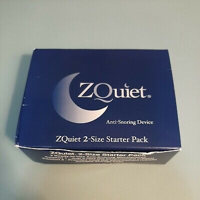 AU40.58 • Buy ZQuiet Anti Snoring Device 2 Size Starter Pack New Open Box - Never Used