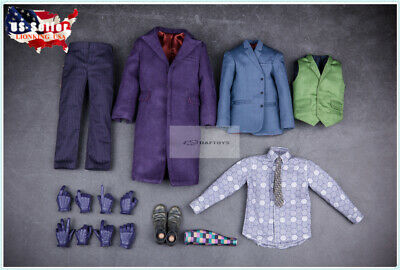 $138 • Buy 1/6 The Dark Knight Joker Clothing Suit Set For 12  Hot Toys Male Figure ❶USA❶