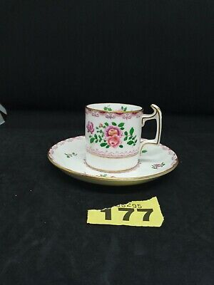 £0.99 • Buy Antique Crown Stafford Staffordshire Coffee Cup And Saucer 19th Century