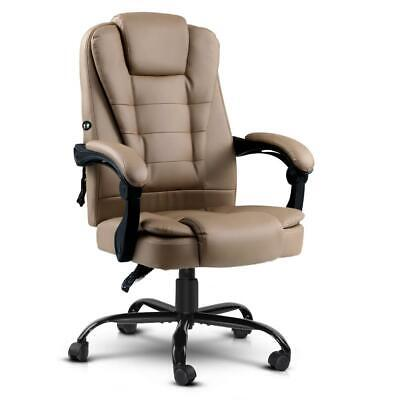 AU140.97 • Buy Artiss Massage Office Chair PU Leather Recliner Computer Gaming Chairs Espresso