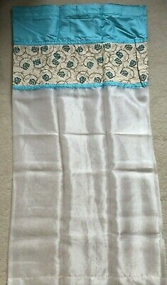 £15.50 • Buy NEW Pair Of B&Q 54 X 54 Sequinned White & Blue Flower Floral Voile Net Curtains