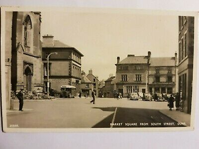 £5 • Buy Vintage Postcard Duns Market Square From South Street 1962