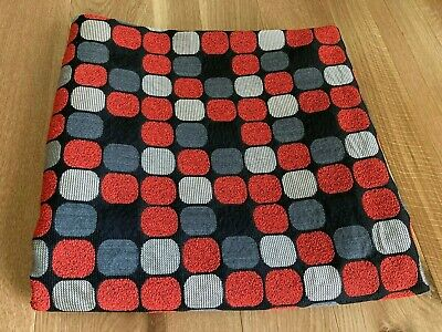 $125 • Buy Maharam Herman Miller Upholstery Fabric By Eames Red/Silver/Gray On Black