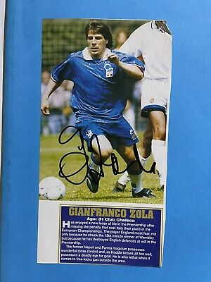 £9.99 • Buy Gianfranco Zola - Italy Footballer Signed  Picture