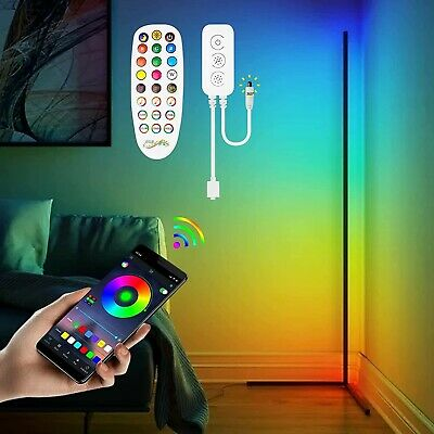 £62 • Buy Corner Floor Lamp - RGB Color Changing LED Floor Light With Remote Mood Night