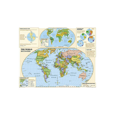 AU5.12 • Buy World Map Atlas Geography Political Map Poster Print
