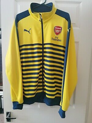 £9.99 • Buy Puma Arsenal Football Mens Track Top Training Jacket Size Xl Yellow And Blue