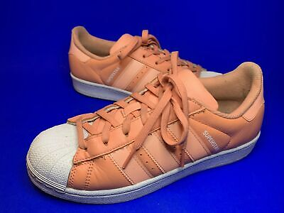 AU24.57 • Buy Adidas Superstar Trainers  Pastel Peach Size 5.5 Uk Leather