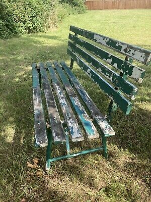 £125 • Buy Vintage Wrought Iron Garden/Bench Seat/ Wrought Iron With Fantastic Patina